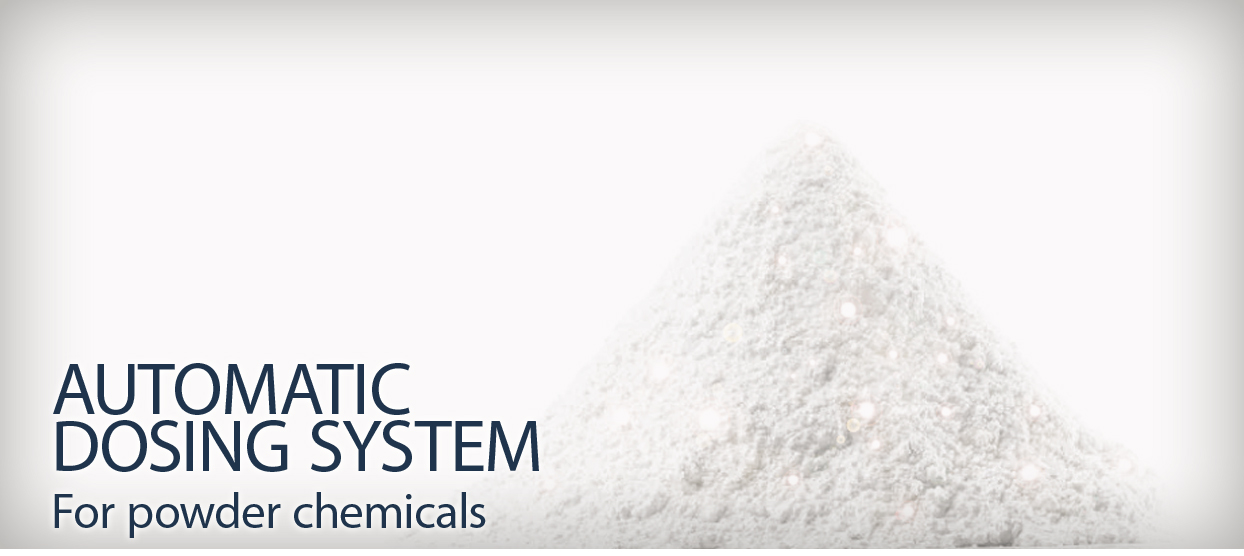 Automatic dosing systems for powder chemicals
